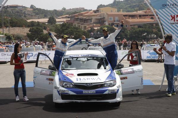Round 6Rally d'Italia Sardinia 200921st - 24th  May 2009Al-Attiyah Nasser, Giovanni Bernacchini, Subaru, PWRC, Podium, PortraitWorldwide Copyright: McKlein/LAT