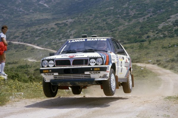 1987 World Rally Championship.Argentinian Rally, Argentina. 4-8 August 1987.Miki Biasion/Tiziano Siviero (Lancia Delta HF 4WD), 1st position.World Copyright: LAT PhotographicRef: 35mm transparency 87RALLY13