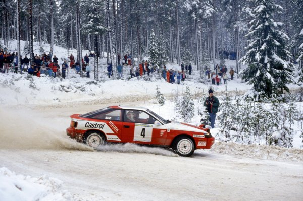 1992 World Rally Championship.Swedish Rally, Sweden. 13-16 February 1992.Mats Jonsson/Lars Backman (Toyota Celica GT4), 1st position.World Copyright: LAT PhotographicRef: 35mm transparency 92RALLY02