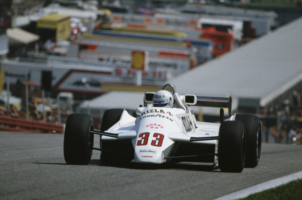 Osterreichring, Zeltweg, Austria.13-15 August 1982.Tommy Byrne (Theodore TY02 Ford).World Copyright - LAT Photographic