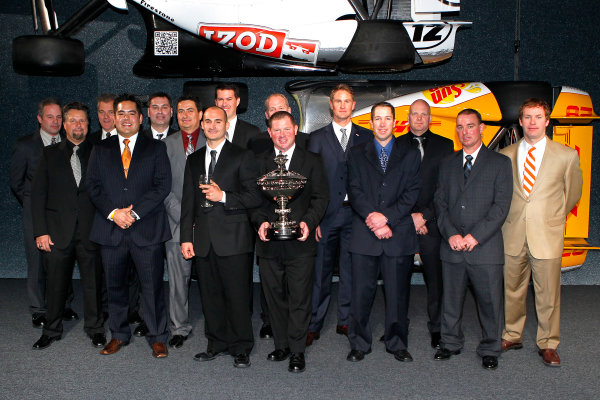 6 December, 2012, Indianapolis, Indiana USA Ryan Hunter-Reay and team with Astor Cup.(c)2012, Russell LaBounty LAT Photo USA .