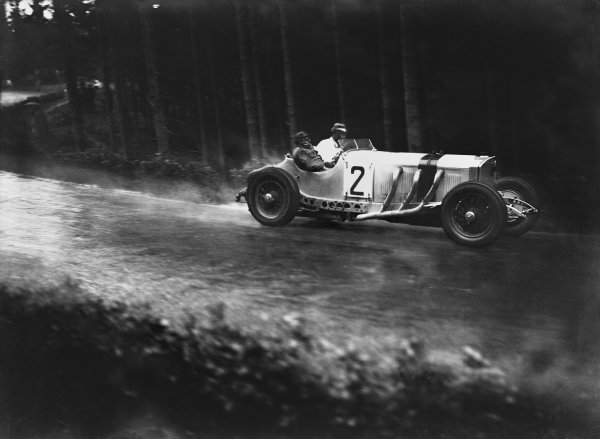 Nurburgring, Germany. 19th July 1931. Manfred von Brauchitsch (#2 Mercedes-Benz SSKL), retired, action.  World Copyright: LAT Photographic. Ref:  Autocar Glass Plate B6816
