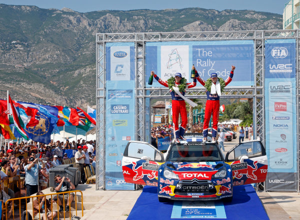 Round 07 Acropolis Rally. 16th - 19th June 2011.Sebastien Ogier, Julien Ingrassia Citroen WRC, Podium.Worldwide Copyright: McKlein/LAT