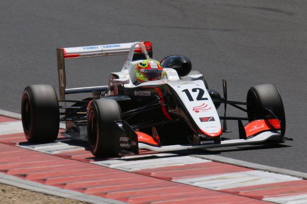 2017 Japanese Formula 3 Championship. Okayama, Japan. 27th - 28th May 2017. Rd 8 & 9. Rd 9 Winner Alex Palou ( #12 ThreeBond Racing with DRAGO CORSE )  action  World Copyright: Yasushi Ishihara / LAT Images. Ref: 2017JF3_Rd9_007