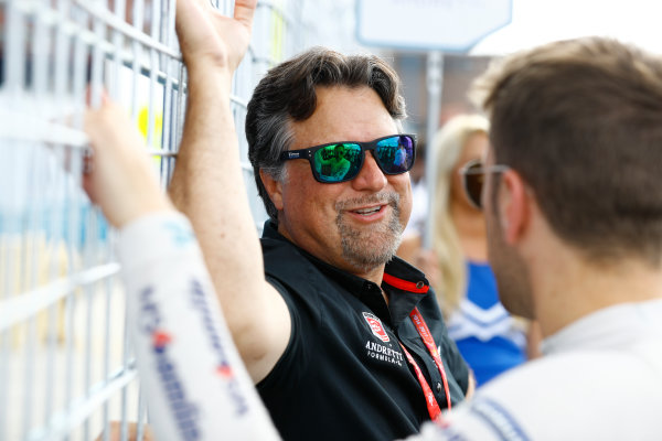 2016/2017 FIA Formula E Championship. Round 9 - New York City ePrix, Brooklyn, New York, USA. Saturday 15 July 2017. Michael Andretti with Antonio Felix da Costa (PRT), Amlin Andretti, Spark-Andretti, ATEC-02. Photo: Steven Tee/LAT/Formula E ref: Digital Image _O3I2447