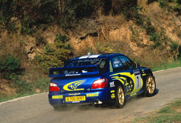 2003 World Rally ChampionshipTour De Corsica. 15th - 19th October 2003.Petter Solberg/Philip Mills (Subaru Impreza WRC2003),action.World Copyright: McKlien/ LAT Photographicref: 35mm Corsica 16