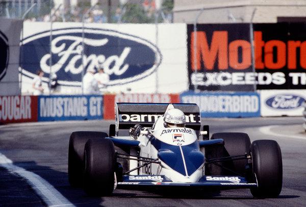 1983 United States Grand Prix West.Long Beach, California, USA.25-27 March 1983.Riccardo Patrese (Brabham BT52 BMW).Ref-83 LB 40.World Copyright - LAT Photographic