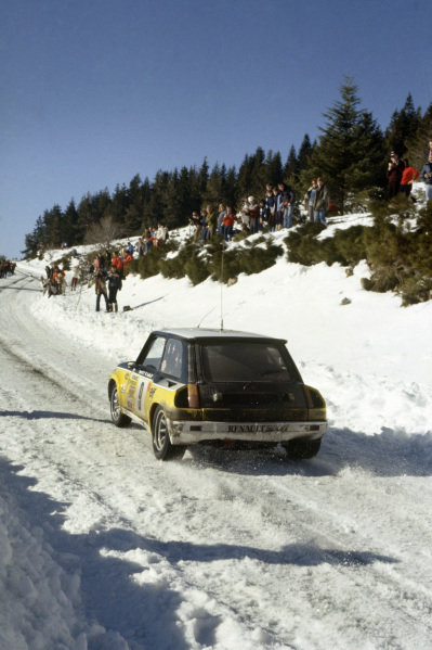Monte Carlo Rally, Monaco. 24-30 January 1981.Jean Ragnotti/Jean-Marc Andrie (Renault 5 Turbo), 1st position.World Copyright: LAT PhotographicRef: 35mm transparency 81RALLY17