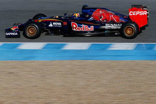 2015 F1 Pre Season Test 1 - Day 1 Circuito de Jerez, Jerez, Spain. Sunday 1 February 2015. Carlos Sainz Jr, Toro Rosso STR10 Renault. World Copyright: Glenn Dunbar/LAT Photographic. ref: Digital Image _89P2952