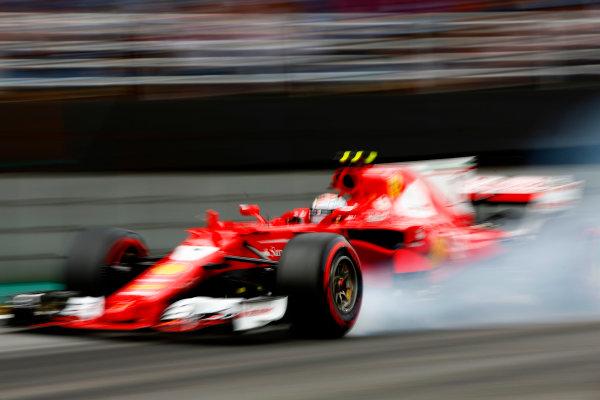 Interlagos, Sao Paulo, Brazil. Saturday 11 November 2017. Kimi Raikkonen, Ferrari SF70H. World Copyright: Andy Hone/LAT Images  ref: Digital Image _ONY8275