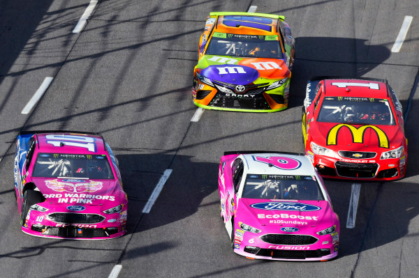 Monster Energy NASCAR Cup Series First Data 500 Martinsville Speedway, Martinsville VA USA Sunday 29 October 2017 Trevor Bayne, Roush Fenway Racing, EcoBoost Ford Fusion and Danica Patrick, Stewart-Haas Racing, Warriors in Pink Ford Fusion World Copyright: Nigel Kinrade LAT Images