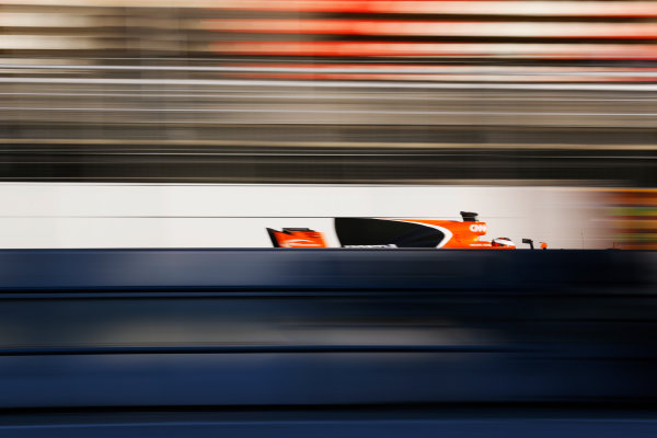 Circuit de Barcelona Catalunya, Barcelona, Spain. Thursday 02 March 2017. Stoffel Vandoorne, McLaren MCL32 Honda, at speed. World Copyright: Steven Tee/LAT Images ref: Digital Image _O3I8481