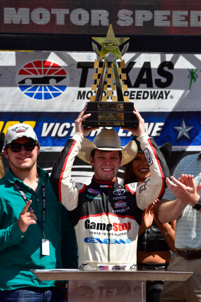2017 NASCAR Xfinity Series My Bariatric Solutions 300 Texas Motor Speedway, Fort Worth, TX USA Saturday 8 April 2017 Erik Jones, Game Stop/ GAEMS Toyota Camry in Sunoco Victory Lane World Copyright: Logan Whitton/LAT Images ref: Digital Image 17TEX1LW2084