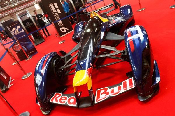 Autosport International Show NEC, Birmingham.  Sunday 12 January 2014. Red Bull X2010 on the Gran Turismo 6 stand. World Copyright:Alastair Staley/LAT Photographic ref: Digital Image _R6T5428