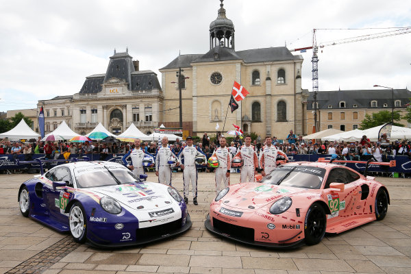 #91 Porsche GT Team Porsche 911 RSR: Richard Lietz, Gianmaria Bruni, Frederic Makowiecki and #92 Porsche GT Team Porsche 911 RSR: Michael Christensen, Kevin Estre, Laurens Vanthoor