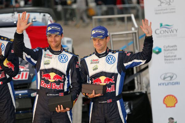 2015 World Rally Championship, Round 13, Rally of Wales GB, 12th - 15th November, 2015 Andreas Mikkelsen, Ola Floene, VW, 3rd place  Worldwide Copyright: McKlein/LAT