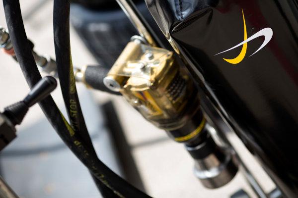 2016 GP3 Series Testing.  Spielberg, Austria. Red Bull Ring,  Wednesday 8th June 2016 . Dams logo and wheel gun.  Photo: Alastair Staley/GP3 Media Service  ref: 580A9087