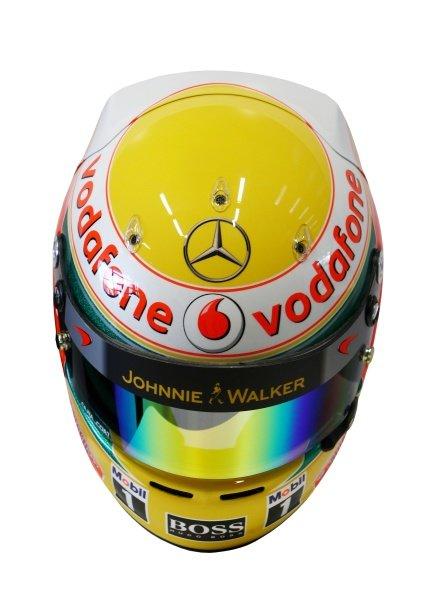 The helmet of Lewis Hamilton (GBR) McLaren. McLaren MP4-27 Launch, McLaren Technology Centre, Woking, England, 1 February 2012.