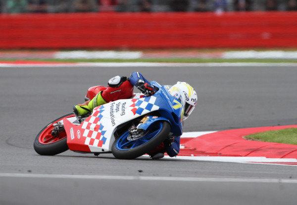 British Grand Prix.  Silverstone, England. 15th-17th June 2012.  Moto3. Fraser Rogers, Racing Steps KRP Honda.  World Copyright: Kevin Wood/LAT Photographic.  ref: Digital Image IMG_8799a
