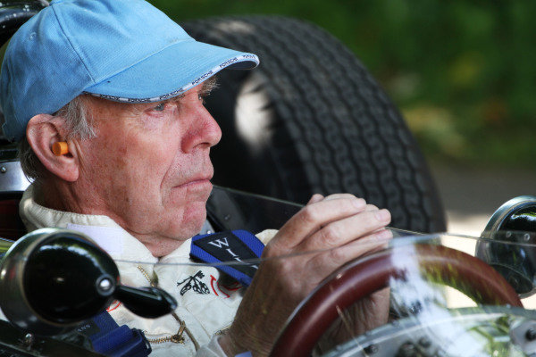 Goodwood Estate, West Sussex, England. 28th June - 1st July 2012. Richard Attwood, BRM P261. World Copyright: Kevin Wood/LAT Photographic Ref: IMG_9120a