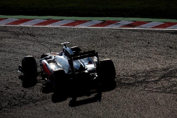 Suzuka Circuit, Suzuka, Japan.7th October 2011.Jenson Button, McLaren MP4-26 Mercedes. Action. World Copyright: Glenn Dunbar/LAT Photographicref: Digital Image IMG_2631