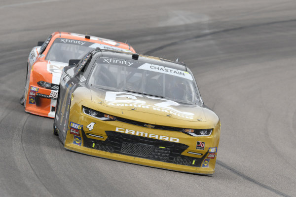 #4: Ross Chastain, JD Motorsports, Chevrolet Camaro RM Parks/EZ Angus Ranch, #98: Chase Briscoe, Stewart-Haas Racing, Ford Mustang Nutri Chomps