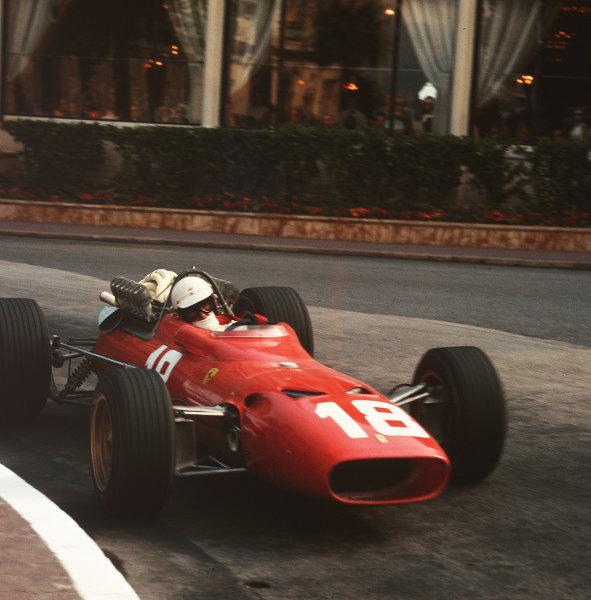 1967 Monaco Grand Prix.Monte Carlo, Monaco.4-7 May 1967.Lorenzo Bandini (Ferrari 312). He later crashed suffering fatal injuries.Ref-3/2818.World Copyright - LAT Photographic