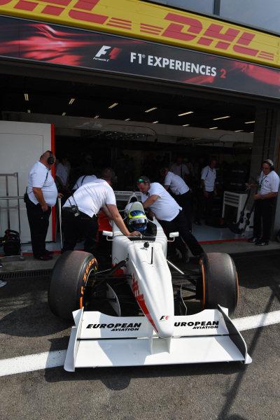 Zsolt Baumgartner (HUN) F1 Experiences 2-Seater driver and F1 Experiences 2-Seater passenger at Formula One World Championship, Rd12, Belgian Grand Prix, Qualifying, Spa Francorchamps, Belgium, Saturday 26 August 2017.