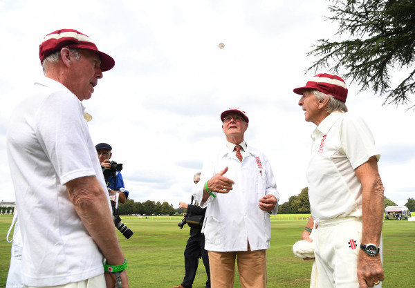 Goodwood Revival Cricket Match Richard Atwood Derek Bell Nick Goozee the toss