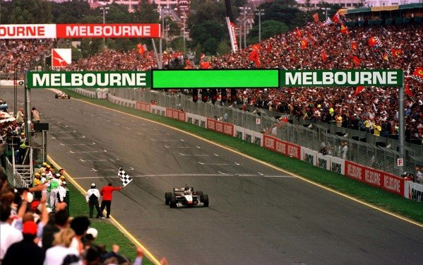 1997 Australian Grand Prix.Albert Park, Melbourne, Australia.7-9 March 1997.David Coulthard (McLaren MP4/12 Mercedes-Benz) 1st position.World Copyright - LAT Photographic