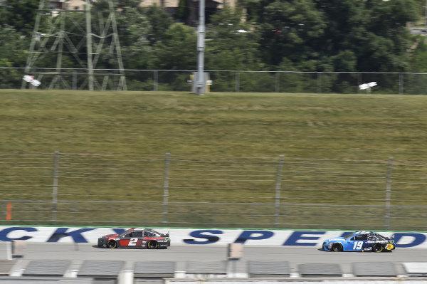 #2: Brad Keselowski, Team Penske, Ford Mustang Snap-On, #19: Martin Truex Jr., Joe Gibbs Racing, Toyota Camry Auto Owners Insurance