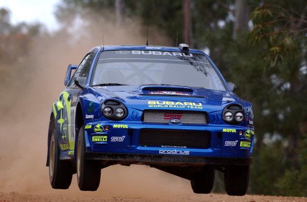 2002 World Rally Championship.Telstra Rally Australia, Perth. October 31st-November 3rd.Tommi Makinen during shakedown.Photo: Ralph Hardwick/LAT