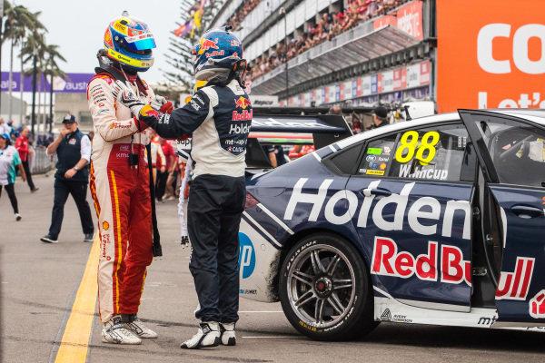 Fabian Coulthard, DJR Team Penske Ford, Jamie Whincup, Triple Eight Race Engineering Holden
