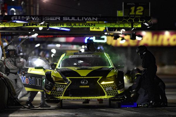 #14 AIM Vasser Sullivan Lexus RC F GT3, GTD: Richard Heistand, Jack Hawksworth, Philipp Frommenwiler, pit stop