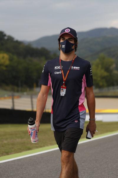 Lance Stroll, Racing Point, walks the circuit