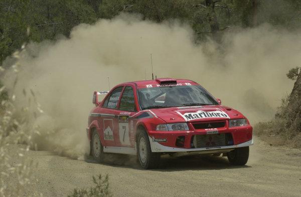 2001 World Rally ChampionshipCyprus Rally, June 1-3, 2001Tommi Makinen during shakedownPhoto: Ralph Hardwick/LAT