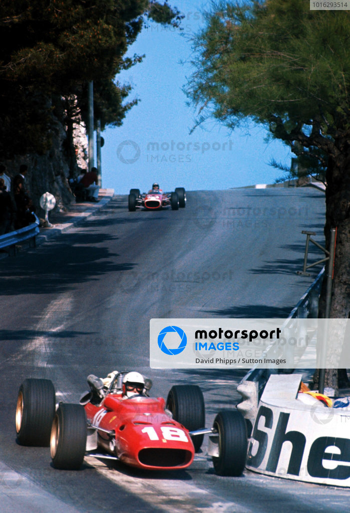 Lorenzo Bandini (ITA) Ferrari 312, suffered fatal injuries following a crash at the chicane on lap 82. Formula One World Championship, Rd2, Monaco Grand Prix, Monte-Carlo, Monaco. 7 May 1967. BEST IMAGE