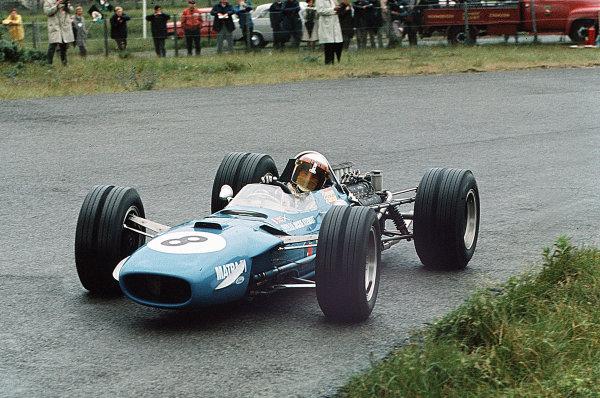 Zandvoort, Holland.21-23 June 1968.Jackie Stewart (Matra MS10 Ford) 1st position.Ref-35mm 68 HOL 15.World Copyright - LAT Photographic