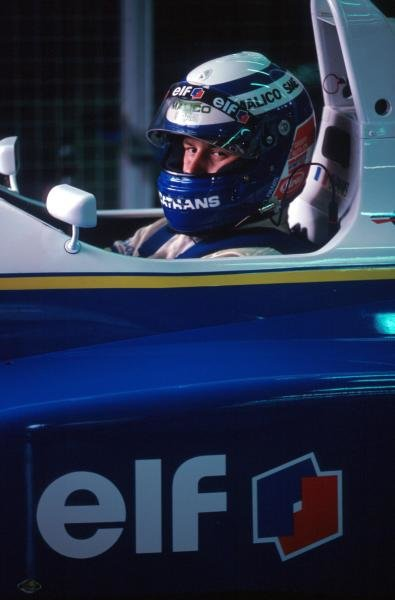 Championship leader Olivier Panis (FRA) DAMS Reynard 93D Cosworth AC finished tenth after spinning into retirement three laps from the end of the race.International Formula 3000 Championship, Magny-Cours, France, 25 September 1993.