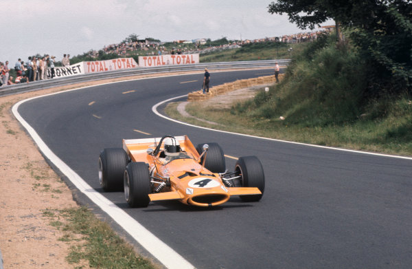 Clermont-Ferrand, France. 4-6th July 1969.  Denny Hulme, McLaren M7A Ford.  Ref: 69FRA06. World Copyright: LAT Photographic