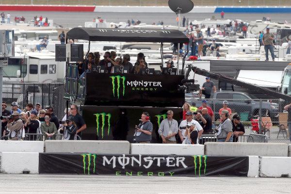 2017 Monster Energy NASCAR Cup Series - Fold of Honor QuikTrip 500 Atlanta Motor Speedway, Hampton, GA USA Sunday 5 March 2017 Monster Energy pit box World Copyright: Lesley Ann Miller/LAT Images ref: Digital Image lam_170305ATL8126