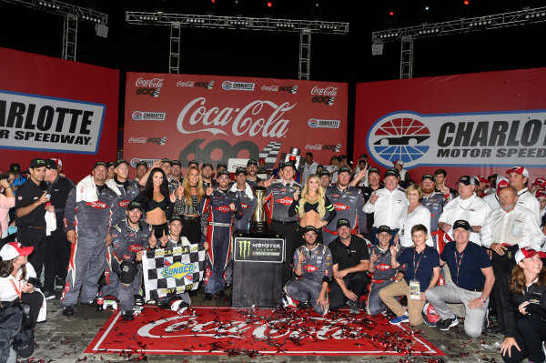 Monster Energy NASCAR Cup Series Coca-Cola 600 Charlotte Motor Speedway, Concord, NC USA Monday 29 May 2017 Austin Dillon, Richard Childress Racing, Dow Salutes Veterans Chevrolet SS celebrates his win in Victory Lane World Copyright: Nigel Kinrade LAT Images ref: Digital Image 17CLT2nk10549
