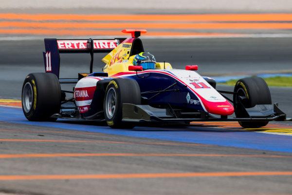 2016 GP3 Series Test 3. Circuit Ricardo Tormo, Valencia, Spain. Wednesday 26 April 2017. Ryan Tveter (USA, Trident)  Photo: Zak Mauger/GP3 Series Media Service. ref: Digital Image _54I2834