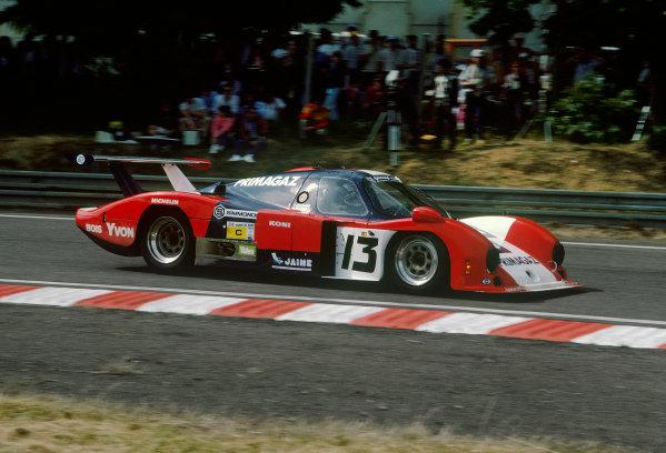 Le Mans, France. 15th -16th  June 1985.Yves Courage/Alain de Cadenet/Jean-Franois Yvon (Cougar C12 Porsche), 20th position, action. World Copyright: LAT Photographic.Ref:  85LM35