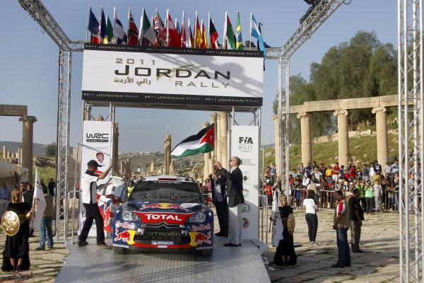 Round 04 Rally Jordan. 14th-16th April 2011.Sebastien Loeb, Citroen WRC, Start.Worldwide Copyright: McKlein/LAT