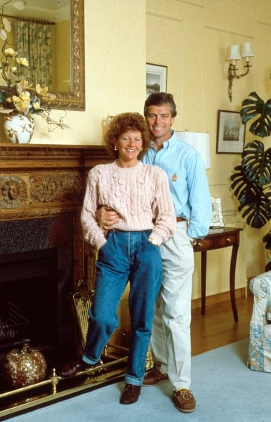 Derek Warwick at home with his wifeFormula One Drivers At Home.