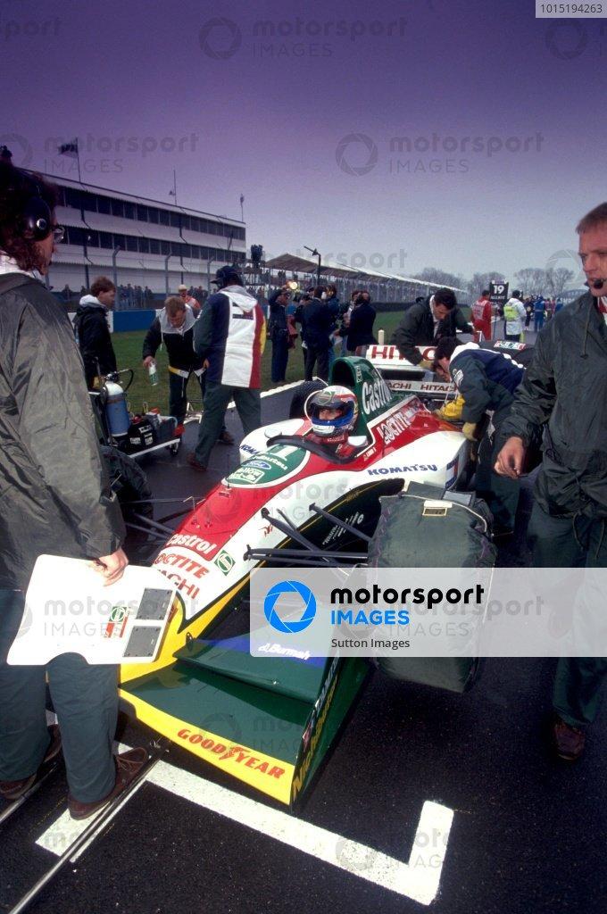 Alessandro Zanardi (ITA) Lotus 107B European Grand Prix, Rd3, Donington Park, England, 11 April 1993.