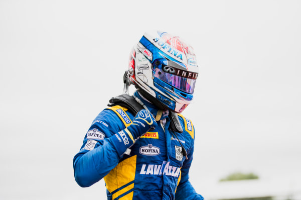 2017 FIA Formula 2 Round 6. Silverstone, Northamptonshire, UK. Sunday 16 July 2017. Nicholas Latifi (CAN, DAMS).  Photo: Zak Mauger/FIA Formula 2. ref: Digital Image _56I0656