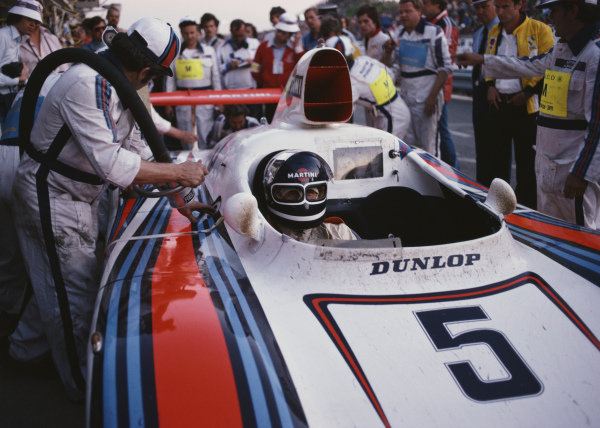 Jacky Ickx, Martini Racing Porsche System, Porsche 936/78 during a pitstop.