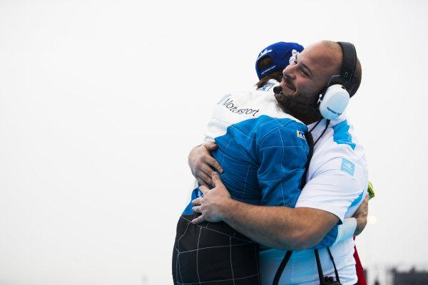Antonio Felix da Costa (PRT), BMW I Andretti Motorsports celebrates victory with his team